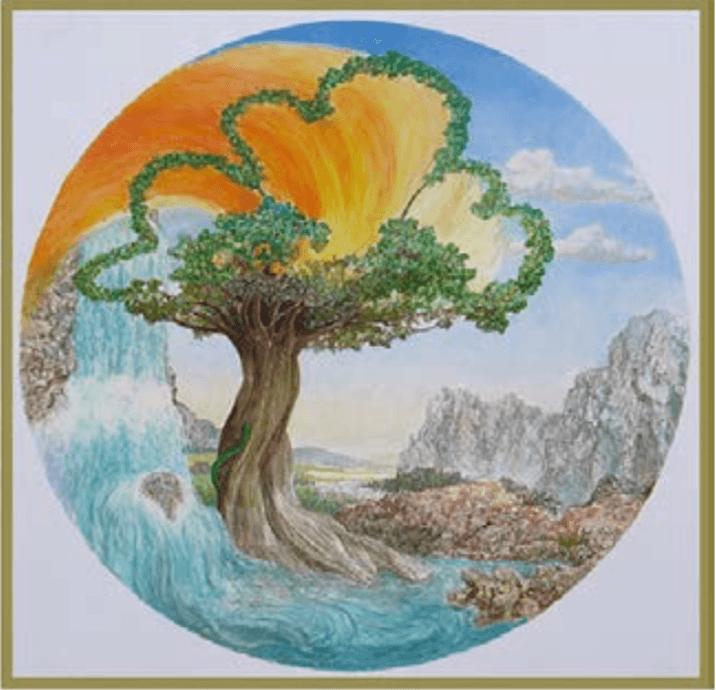 Naturheilverein Lebensbaum Gemälde