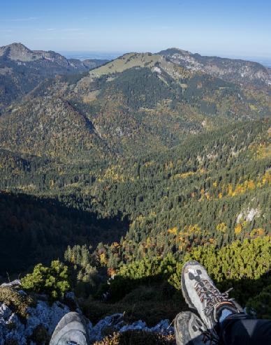 Bild geschossen vom Gipfel der Hörndlwand